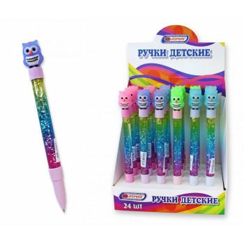 Ручка  шариковая синяя с плавающими блес..