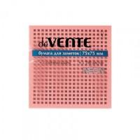 Стикер 75*75мм 100л Devente неон розовый 2010331/12 Китай