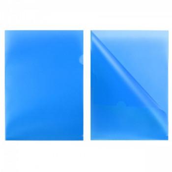 Уголок А4 180мкм прозр син Е-310 816353..