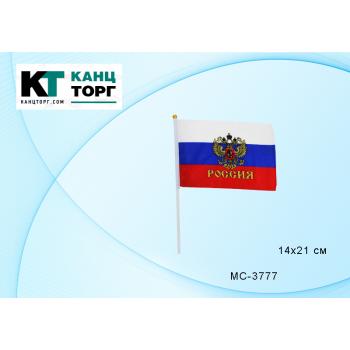 Флаг России с гербом 14*21 Basir МС-3777..