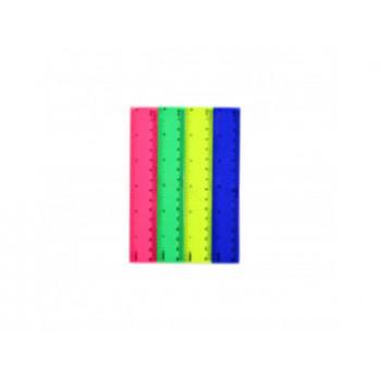 ЛИНЕЙКА ПЛАСТИКОВАЯ 15 см. яркие цвета