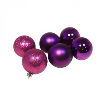 Елочное украшение шар фиолетовый (глитте..