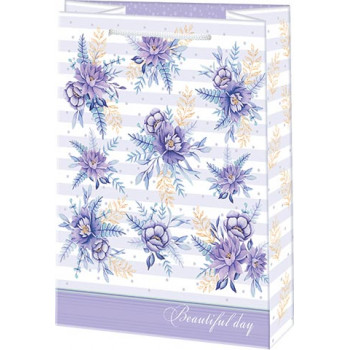 Пакет бумажный 10-30-290 18*22 (Цветы) (..