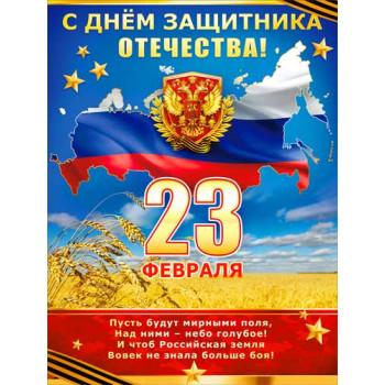Плакат С 23 февраля р2-228..
