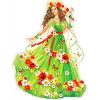 Плакат Девушка-весна р2-471..