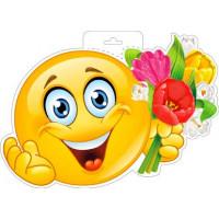 Плакат Смайл с цветами р34-248..