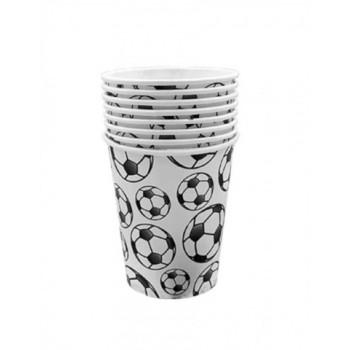 Бумажные стаканы Футбол, 250 мл, 6 шт ФЛ..