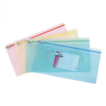 Папка-конверт zip-lock, ассорти (Axent) ..