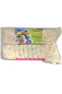 Шариковый пластилин: белого цвета с цветными шариками, увлекательный набор для воплощения детских тв