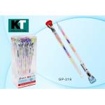 Ручка гелевая многоцветная неон