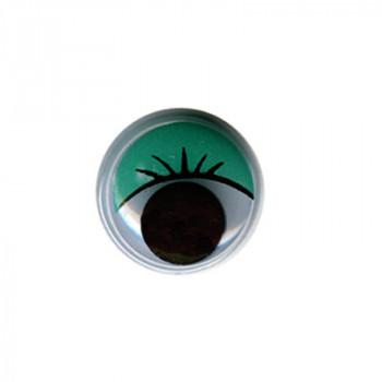 Глаза круглые d12мм с бегающими зрачками..