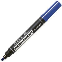 Маркер перманентный, синий, клиновидный наконечник, 1-4,6 мм CENTROPEN (10)