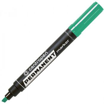 Маркер перманентный, зеленый, клиновидны..