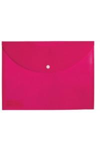 Папка-конверт на кнопке А4 200мкм, непрозрачная, розовая ASMAR (12)