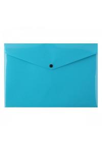 Папка-конверт на кнопке А4 200мкм, непрозрачная, , бирюзовая  ASMAR (12)
