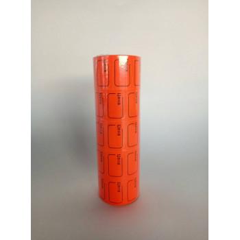 Ценник малый 30*20мм Тёмно-оранжевый 240..