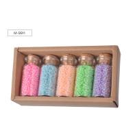 Набор бисера № 2, 5 цветов x 15,5 г, стеклянная колба / картонная коробка