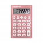 Калькулятор карманный 8-разр., розовый п..