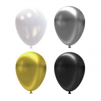 Набор воздушных шаров 30см 12 шт. 01_бел..