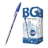 """Ручка шариковая 1.0 мм """"B-301"""", синий, картонная коробка, 50/1000/4000 шт в упак"""