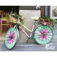 """Набор для творчества """"Рисование по номерам"""". E004 Велосипед для дамы ВС"""