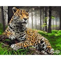 "Набор для творчества ""Рисование по номерам"". H072 Леопард в лесу 40*50 ВС"