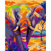 """Набор для творчества """"Рисование по номерам"""". H081 Красочный слон 40*50 ВС"""