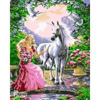 "Набор для творчества ""Рисование по номерам"". L014 Принцесса и Единорог"