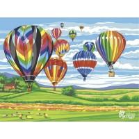 """Набор для творчества """"Рисование по номерам"""". RL032 Воздушные шары 30 x 40"""