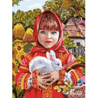 """Набор для творчества """"Рисование по номерам"""". RL087 Маленькая красавица 30 x 40"""