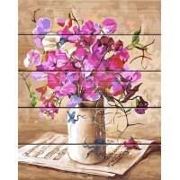 """Рисование по номерам по дереву """"Flamingo"""" 40х50 FLA002 """"Цветочная мелодия"""""""