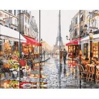"""Рисование по номерам по дереву """"Flamingo"""" 40х50 FLA012 """"Вечер в Париже"""""""