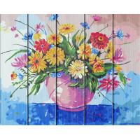 """Рисование по номерам по дереву """"Flamingo"""" 40х50 FLA037 """"Полевые цветы"""""""