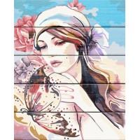 """Рисование по номерам по дереву """"Flamingo"""" 40х50 FLA049 """"Нежность бабочки"""""""