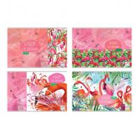 """Альбом для рисования А4 скоба 20л. """"Цвет фламинго"""" (ассорти)"""