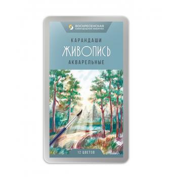Набор акварельных карандашей 12цв (метал..