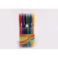 Набор шариковых ручек ( трехгранный  цветной корпус 6 цветов)