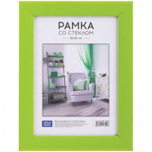 Рамка пластиковая 15*21см, OfficeSpace, №10/1, зеленый