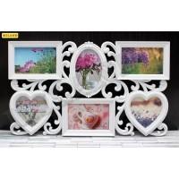 Фоторамка-коллаж (6 фото) Семейные фото, размер фото - 15х10 см, 10х10 см ФР-1620