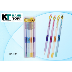 """Ручка со стираемыми чернилами гелевая : """"Princess""""; цветной корпус с рисунком /ассорти/ (12/144)"""