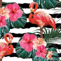 "Дизайнерская бумага ""Фламинго"" 78г/м2, 1х70 БумДиз-Флам 10 листов (1)"