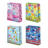 Пакеты бумажные подарочные (12х15) 12шт. Ч00080