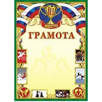 Грамота (картон) Спорт. Единоборства. 3 место ОГ-1..