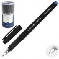 Ручка шар 1,0 антискольз черн корп резин манжет CityWrite Black 20-0015 син пл/уп