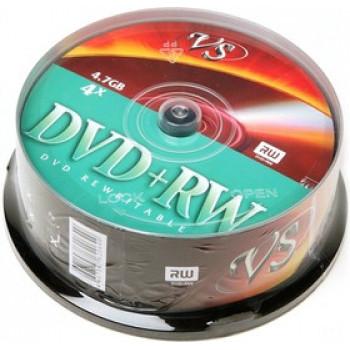 Диск DVD+RW 4,7 GB 4x CB/25 VS (25)..